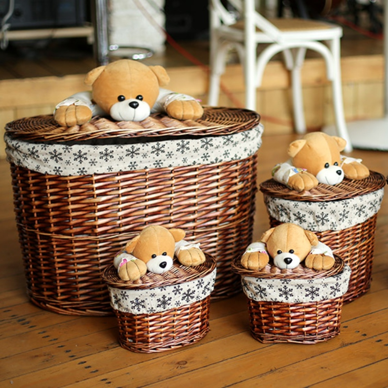 Willow Laundry Basket com Lid